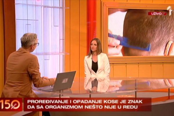 """INTERVJU DR MARIJE MARJANOVIĆ ZA EMISIJU """"150 MINUTA"""" O OPADANJU KOSE KOD MUŠKARACA I ŽENA"""